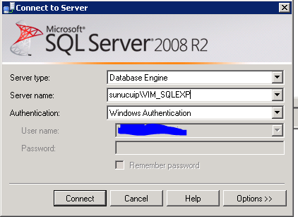 vCenter Server SQL Veritabanına Bağlanma