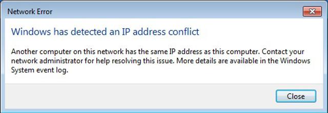 IP Çakışması
